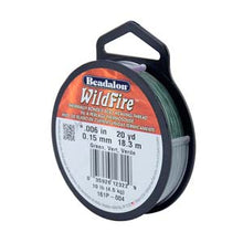 "Load image into Gallery viewer, Wildfire Beading Thread (Green) .006"" 0.15MM #161P-008"