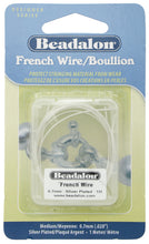 Load image into Gallery viewer, Beadalon French Wire 0.7mm I Meter Silver Plated