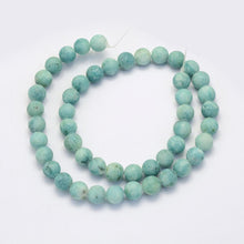 Load image into Gallery viewer, Crazy Agate Frosted Pale Turquoise Natural Gemstone Beads #9-31
