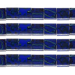 Load image into Gallery viewer, Miyuki TILA Bead 5x5mm 2 Hole  Royal Blue w/Turq. Picasso Op.