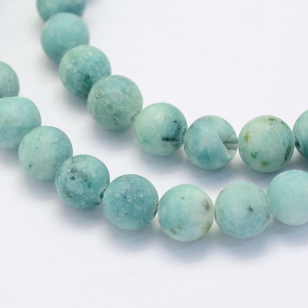 Crazy Agate Frosted Pale Turquoise Natural Gemstone Beads #9-31