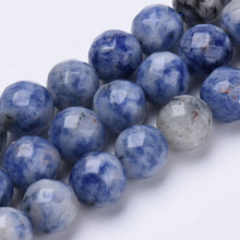 Load image into Gallery viewer, Sodalite Brazilian Facetted Natural Round Bead Strand #10-14F