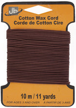 Load image into Gallery viewer, COTTON WAX CORD 1.5mm ROUND  5HEADERSx10MTR=50MTR MAROON