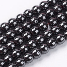 Load image into Gallery viewer, Magnetic Synthetic Hematite Beads Gemstone Strand Grade A