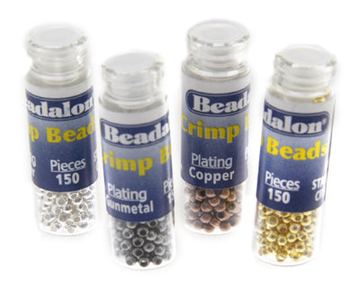 Beadalon Crimp Variety 600/pcs  #1 Silver Gold Copper Gunmetal