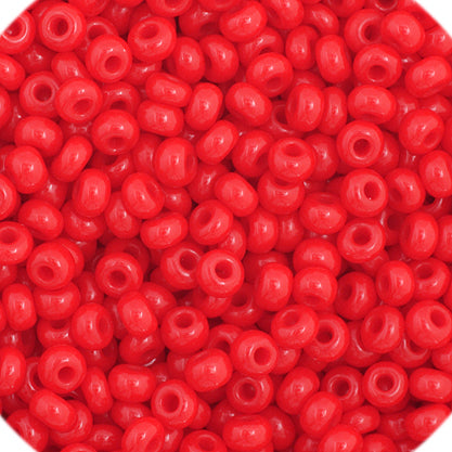 Czech Seedbead 11/0 Medium  Red Opaque approx 23g
