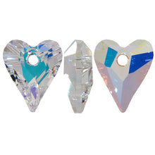 Load image into Gallery viewer, SWAROVSKI Pendant Wild Heart 6240 Crystal AB