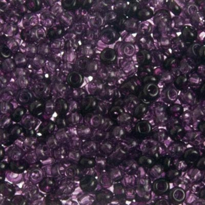 Czech Seedbead 10/0 Transparent Amethyst Mix 049