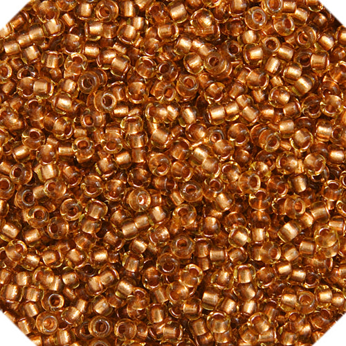 Czech Seedbead 10/0 Topaz Copper Lined 053