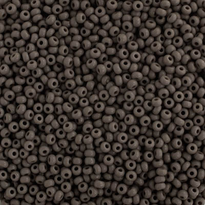 Czech Seedbead 10/0 Opaque Grey 103