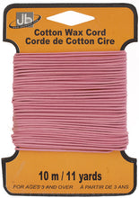 Load image into Gallery viewer, COTTON WAX CORD 1.5mm ROUND  5HEADERS x 10MTR=50MTR PINK