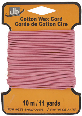 COTTON WAX CORD 1.5mm ROUND  5HEADERS x 10MTR=50MTR PINK