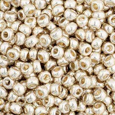 Czech Seedbead 11/0 Silver Metallic 1018V