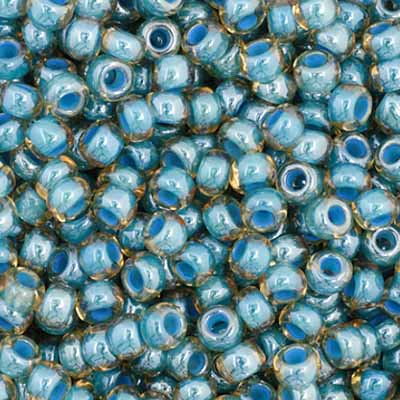 Czech Seedbead 11/0 Light Blue Colourlined 1020V