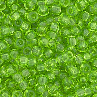 Czech Seedbead 11/0 Light Green Transparent  1029V