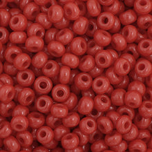 Load image into Gallery viewer, Czech Seedbead 11/0 Dark Red Opaque 23g 34914V