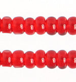 Preciosa 11/0 ONE CUT Transparent Red Seed Beads 100 Grams #7025