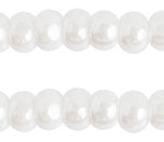 Preciosa 11/0 ONE CUT Opaque White Lustre Seed Beads 100 Gram #7071