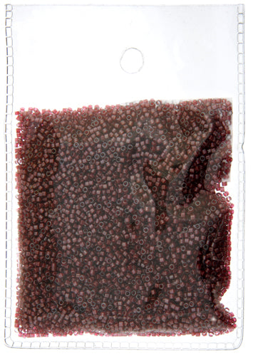 Delica Seed Beads 11/0- RD Dark Crystal Red Lined-Dyed DB0280-50GR