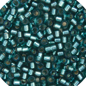 Delica Seed Bead 11/0 RD Teal Silver Lined Dyed DB0607
