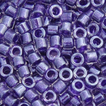 Load image into Gallery viewer, Delica Seed Bead 11/0 RD Amethyst Sparkle Crystal Lined DB0923