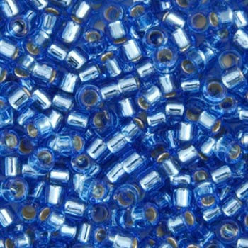 Delica Seed Bead 11/0 RD Blue Azure Silver Lined 1210V