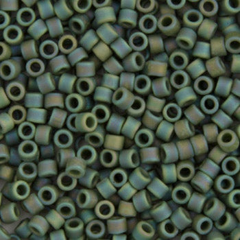 Delica Seed Bead 11/0 RD Green Avacado Opaque AB Matte DB1594