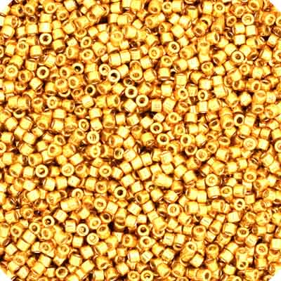 Delica Seed Bead 11/0 RD  Duracoat Galvanized Gold DB1832