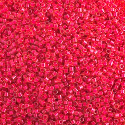 Delica Seed Beads 11/0 RD Poppy Red Luminous Neon DB2051