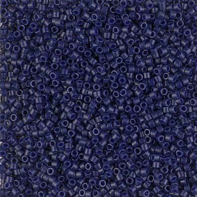 Delica Seed Beads 11/0 RD Cobalt  Blue OP Dyed Duracoat DB2144