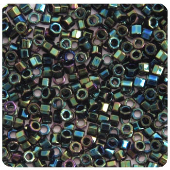 Delica Seed Bead 11/0 RD CUT  Green Iris  0003V