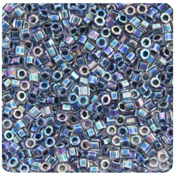 Delica Seed Bead 11/0 RD CUT  BLUE AB LINED DYED DB0085-5.2
