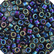 Load image into Gallery viewer, Delica Seed Beads 10/0 RD Black AB 0005B Bulk 50gr.