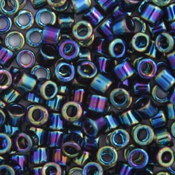 Delica Seed Beads 8/0 RD Black AB 0005V