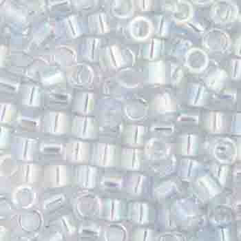 Delica Seed Beads 10/0 RD Light Blue Transparent AB Luster 0110V