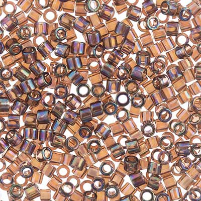 Delica Seed Beads 10/0 RD Bronze Transparent AB 0180V