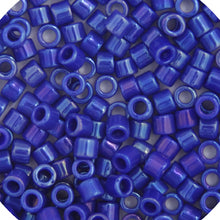 Load image into Gallery viewer, Delica Seed Beads 10/0 RD Cobalt Blue Opaque AB 0216B Bulk 50gr.