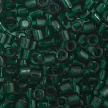 Delica Seed Beads 10/0 RD Dark Emerald Transparent 0713V