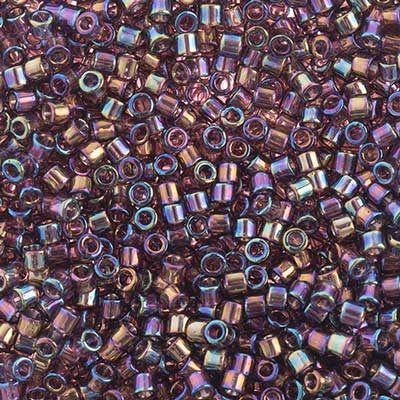 Delica Seed Bead 10/0 RD Mauve Transparent AB DB1244V