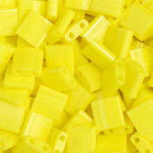 Load image into Gallery viewer, Tila Yellow Opaque 2 Hole Beads  5x5MM 0404V