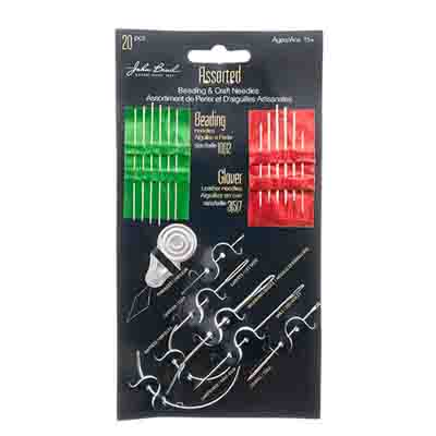 Multi-Purpose Needle Kit Assorted Beading/Glover/More 20pcs total