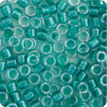 Load image into Gallery viewer, Delica 11/0 RD Green Aqua  Sparkle Crystal Lined