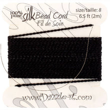Load image into Gallery viewer, Silk Bead Cord with Needle Size #8 #74422068