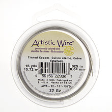 Load image into Gallery viewer, Artistic Wire (Tinned Copper Silver Plated) 22 Gauge 15YD