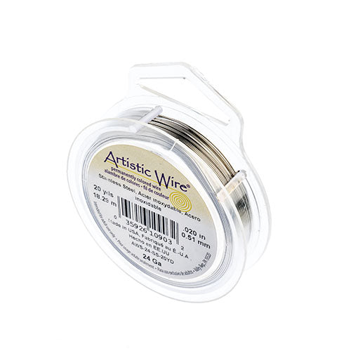 Artistic Copper Wire Stainless Steel 24 Gauge 20YD