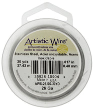Load image into Gallery viewer, Artistic Wire (Stainless Steel) 26 Gauge #1014-341