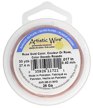 Load image into Gallery viewer, Artistic Copper Wire Rose Gold 26 Gauge 30Yd.