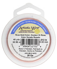 Load image into Gallery viewer, Artistic Copper Wire Rose Gold 28GA 40 Yards