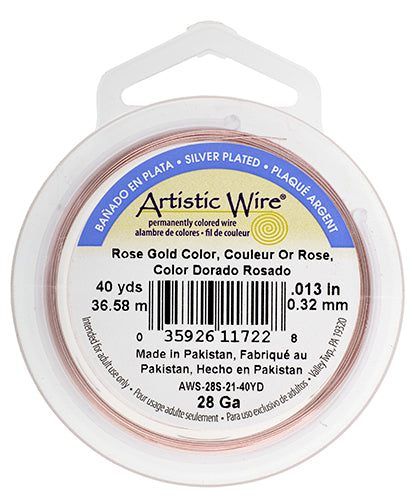 Artistic Copper Wire Rose Gold 28GA 40 Yards