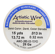 Load image into Gallery viewer, Artistic Wire (Gold Colour) 28 Gauge 15 Yd. 2005-12
